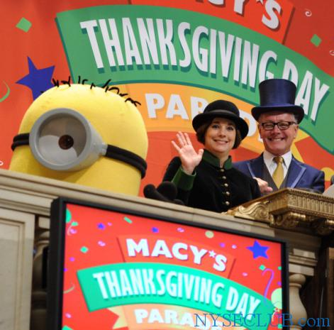 Macy's Celebrates The 84th Thanksgiving Day Parade At The New York Stock Exchange